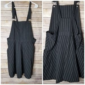 NWOT 90s style pinstripe overall dress 2x plus siz